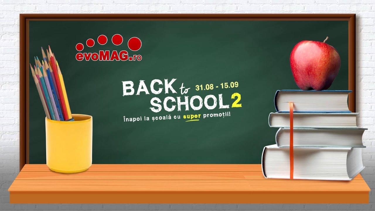 Noi promotii evoMAG Back to School