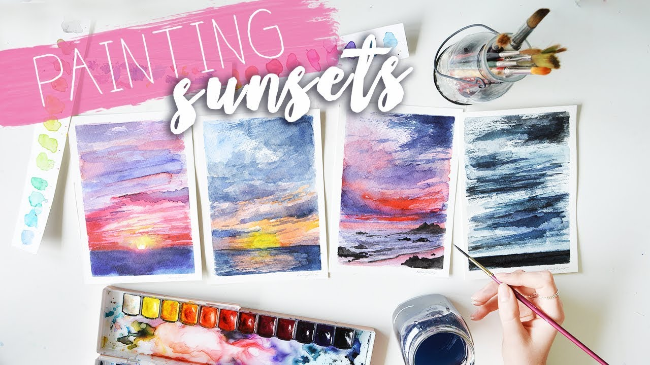 Watercolour Paintings How I Paint Sunsets Katie Jobling