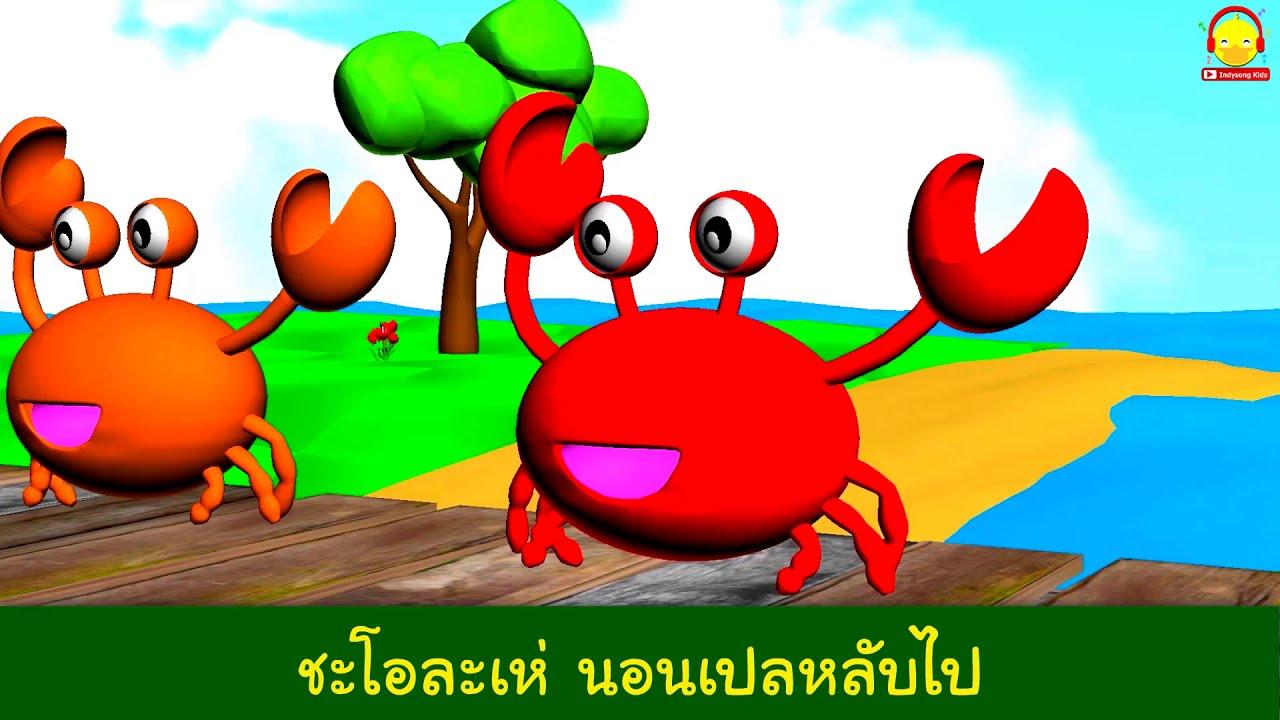 เพลง จับปูดำ ขยำปูนา จับปูม้า คว้าปูทะเล คาราโอเกะ (3D) การ์ตูนน่ารักๆ