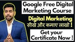 Google Free Digital Marketing Course   Certificate   Digital Garage   Tutorials   Hindi