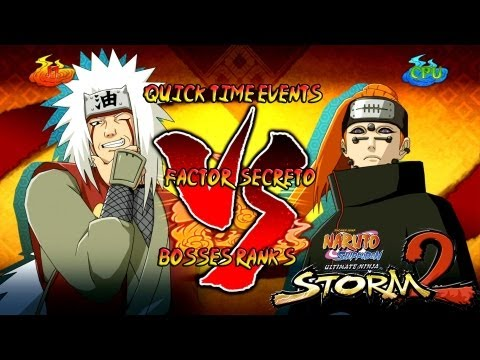 Naruto Shippuden: Ultimate Ninja Storm 3 1080p Boss 8 Pain Rank S | Jiraiya vs Pain