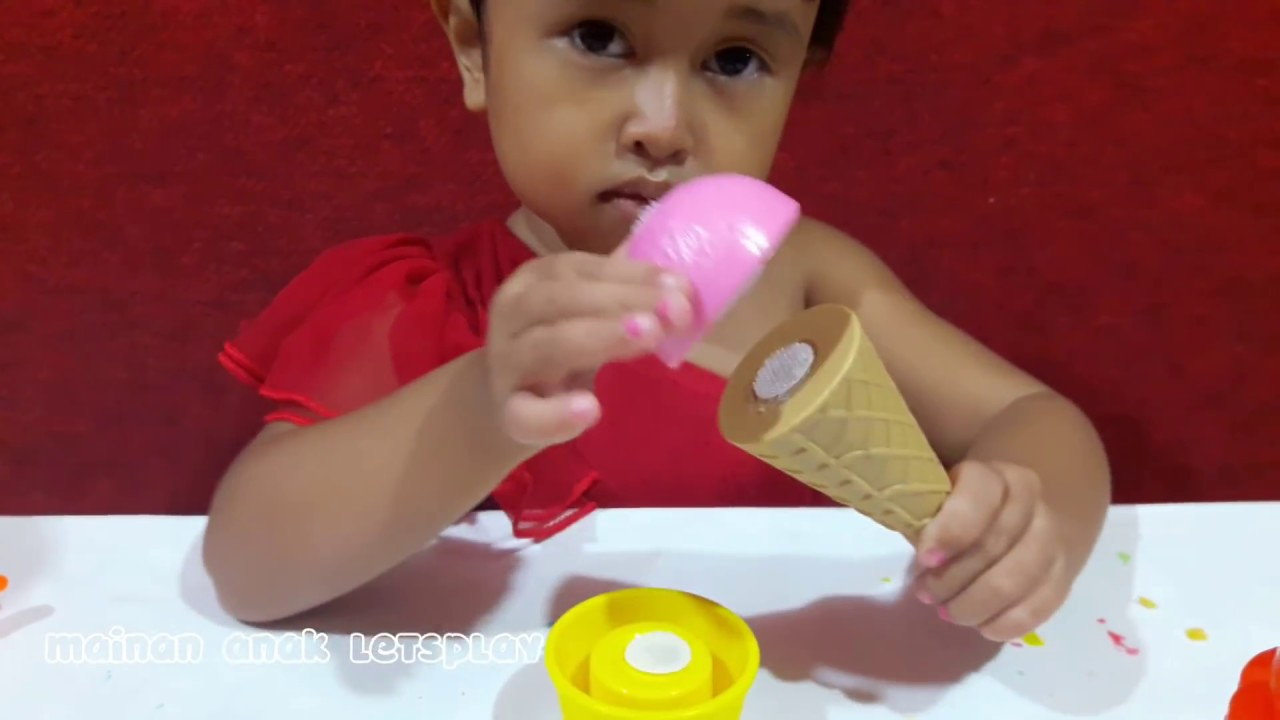 Main Masak Masakan Membuat Es Krim Lilin Mainan Warna Warni Play Doh Fun Doh Youtube