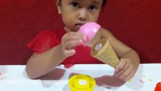 Main MASAK MASAKAN 💖 Membuat ES KRIM 💖 Lilin Mainan Warna Warni 💖 Play Doh 💖 Fun Doh 💖