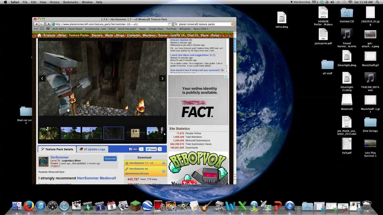 How to install 1.7.5 texture pack minecraft (Mac) - YouTube