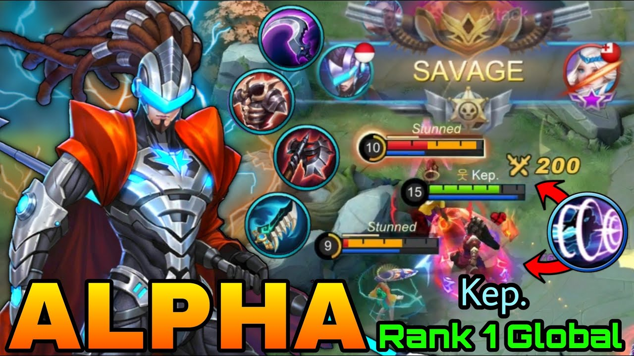 Alpha Perfect SAVAGE!! - Top 1 Global Alpha Kep. - Mobile Legends: Bang Bang