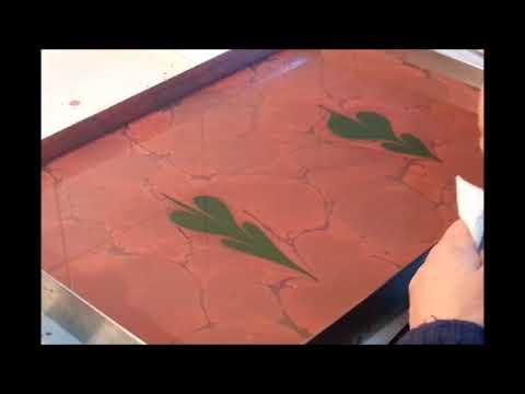 tekli lale ebru yapımı Hocamız: Alparslan Bababoğlu
