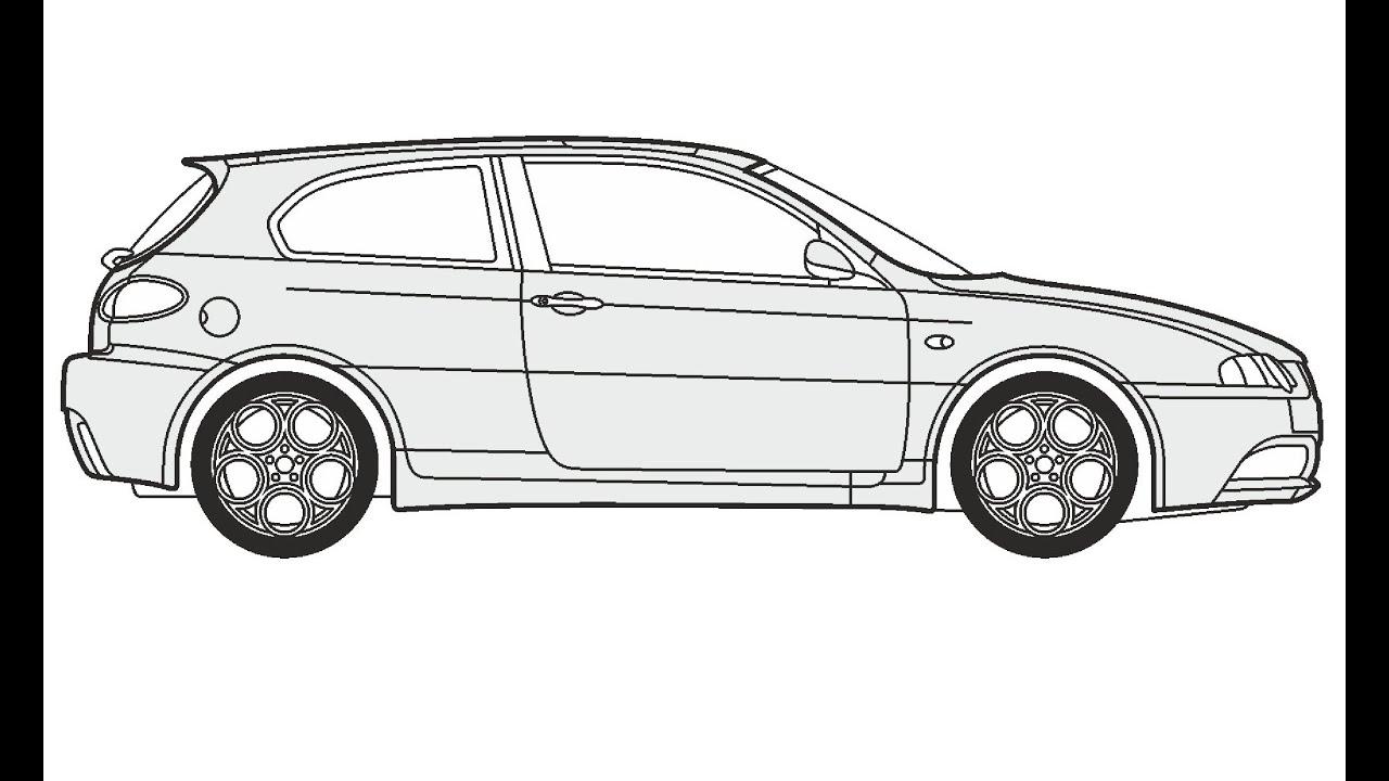 How to Draw an Alfa Romeo GTA / Как нарисовать Alfa Romeo