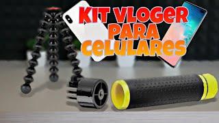 Kit de Vlog Para Celulares - Unboxing Doble