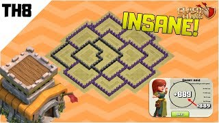 INSANE TOWN HALL 8 (TH8) WAR/TROPHY BASE DESIGN 2019   Anti Everything   Clash of Clans
