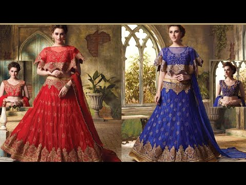 Latest light weight bridal lehenga choli designs