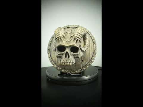 Baphomet Devil Skull Head Bronze Sculpture Wall Art Plaque Decor Satanic