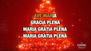 "Ave Maria in the Style of ""Céline Dion"" with lyrics (no lead vocal)"
