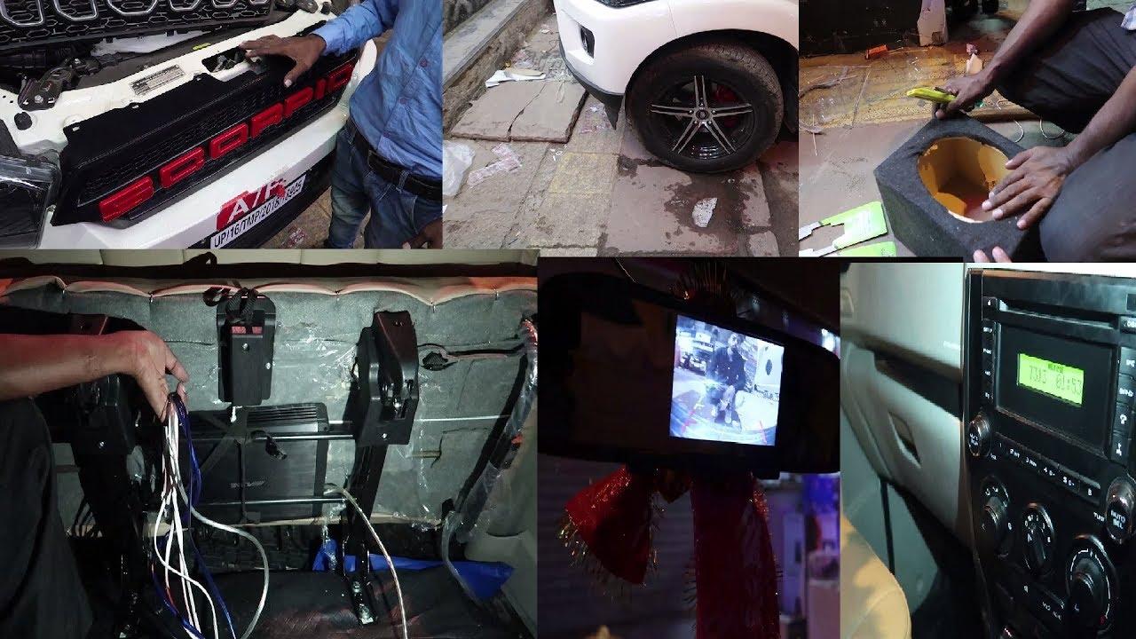 Modified Mahindra Scorpio | Scorpio Custom Front Grill | Alpine Speakers |  Alpine Amplifier