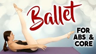 Ballet Fit Core & Abs Challenge! Pilates Toning Exercises, Beginners At Home Workout, 25 Mins