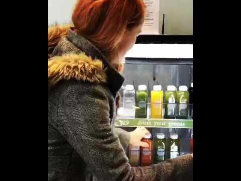 PJC Cold Pressed Juice Vending Fridge
