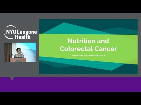 Nutrition and Colorectal Cancer