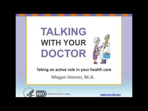 Talking with your doctor—Everything you need to know to lead a lively workshop