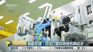 [中国财经报道]韩副总理:日出口管控将挫伤韩经济| CCTV财经