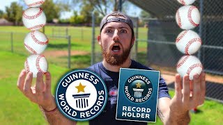 BREAKING BASEBALL WORLD RECORDS! IRL Baseball Challenge