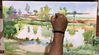 Watercolor on Canvas/ Varna nadi