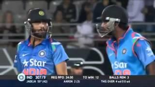 Ravindra Jadeja Amazing Finish!!! 3rd ODI at Auckland.