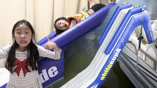 Pretend Play NEW PLAYGROUND With Boat Slide