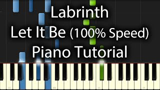 Labrinth - Let It Be Tutorial (How To Play On Piano)