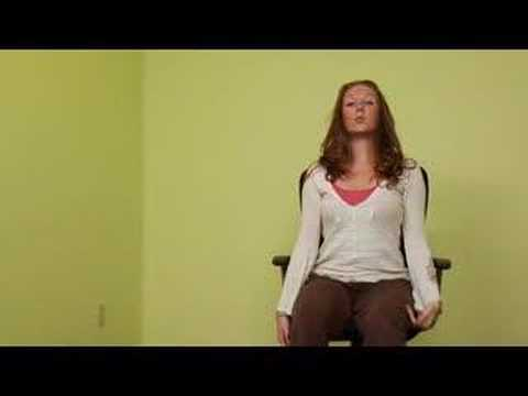 Office Chair Yoga Stretches : Office Chair Yoga: Spine Stretch