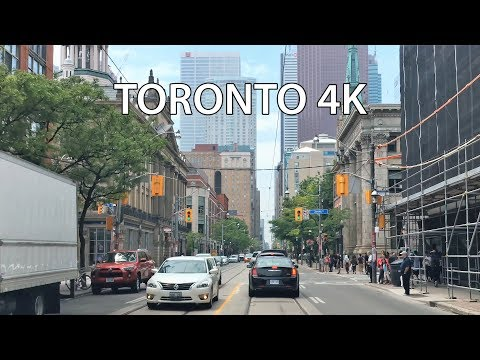 Driving Downtown - King Street - Toronto 4K