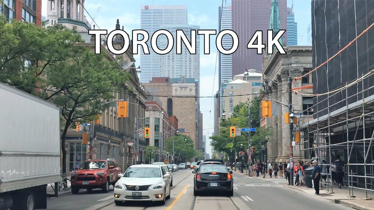 Driving Downtown - Toronto King Street 4K - Canada