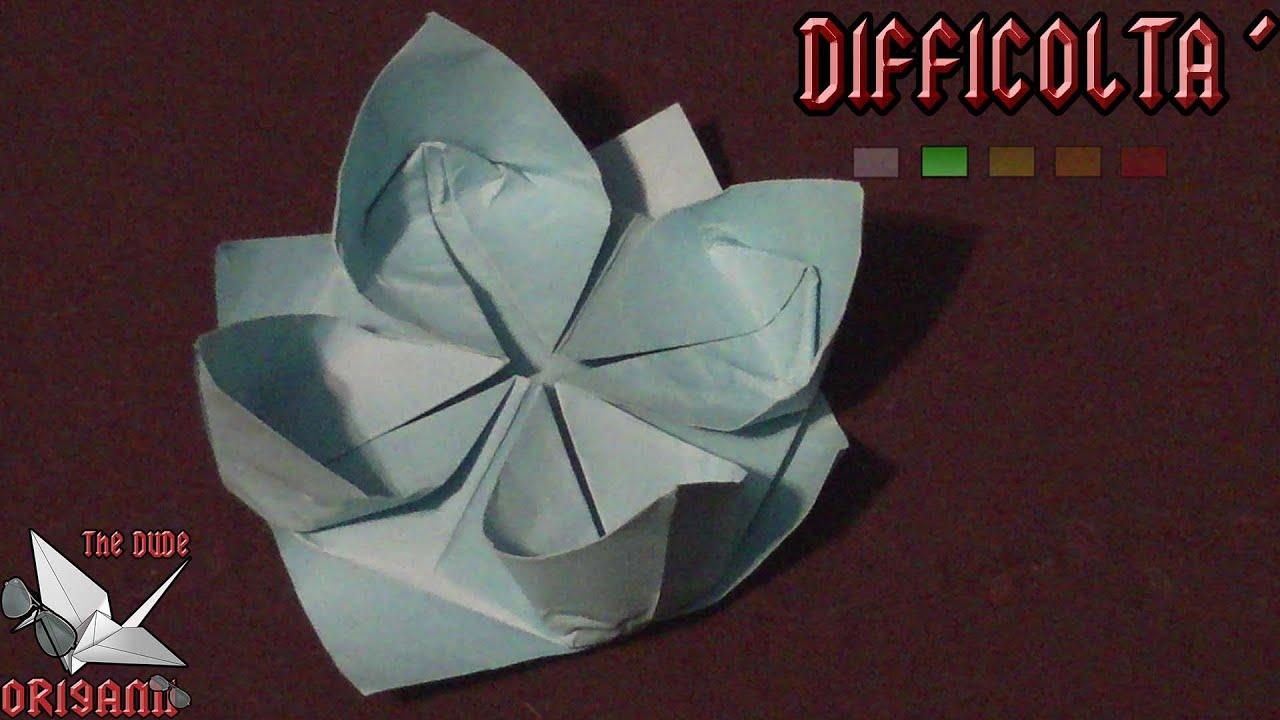 0rigami Fiori.Origami Ita Fior Di Loto Fiori Youtube
