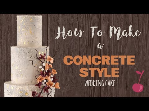 Concrete Style Wedding Cake Tutorial | How To | Cherry School