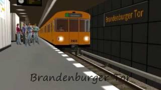 U-Bahn Berlin line U55 in Trainz Railroad Simulator 2006