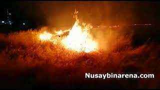 Türkiye Suriye sınırında büyük yangın