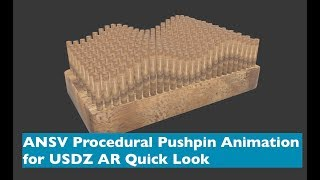 USDZ AR Hızlı oluşturmak İçin Döngü İtme Pın Animasyon Bak