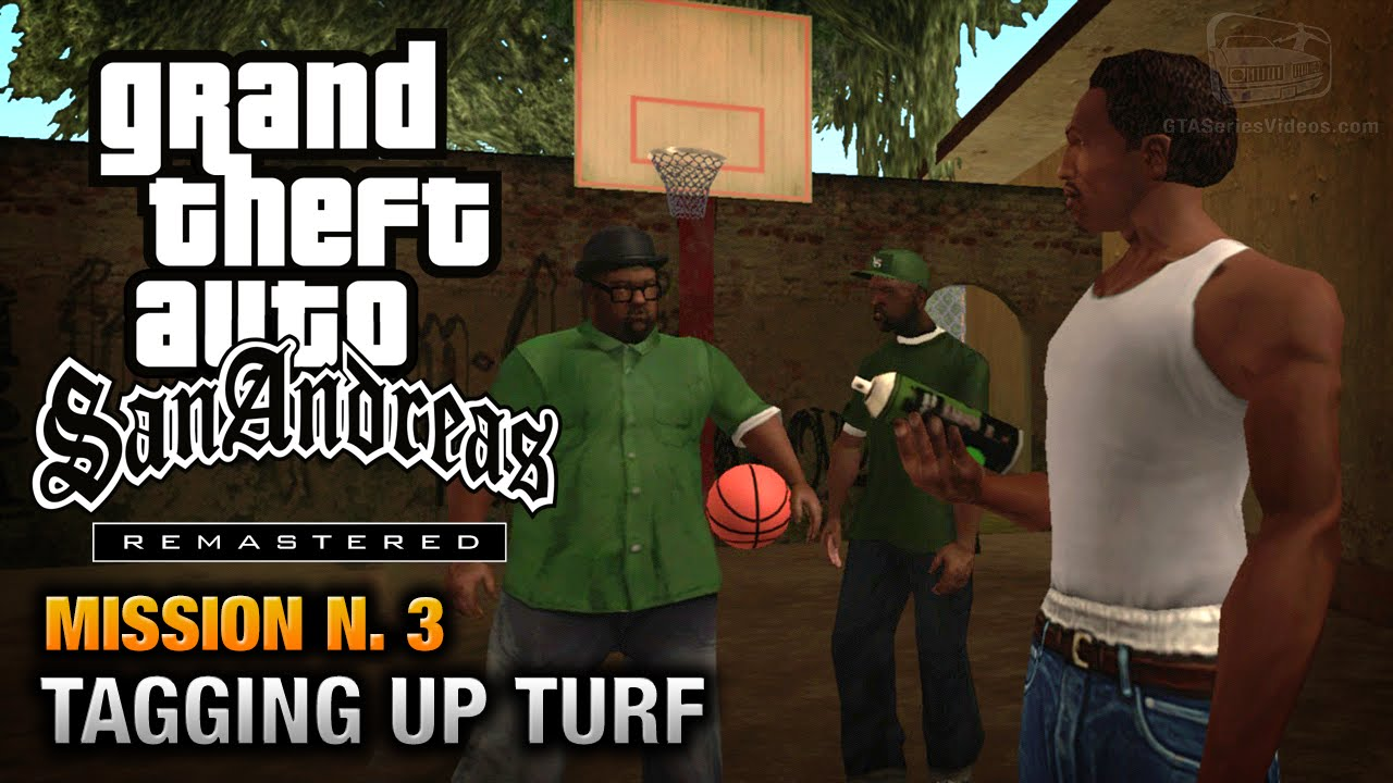 GTA San Andreas Remastered Mission 3 Tagging Up Turf