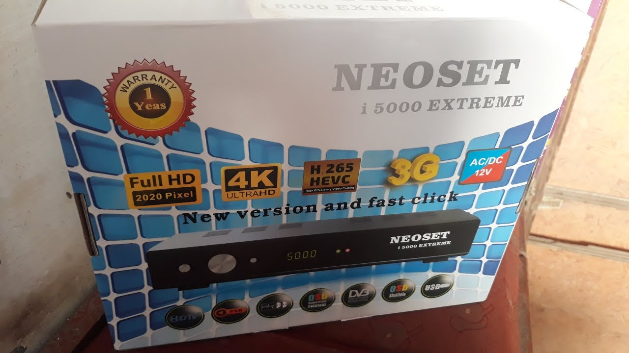 How To Neosat I5000 Extreme 4K HEVC H 265 with Server 12 Month Urdu