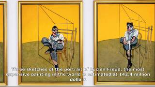 Three sketches of the portrait of Lucien Freud, most expensive is estimated at 142.4 million dollars