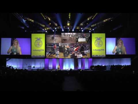 National FFA Convention; Amberley Snyder 2015