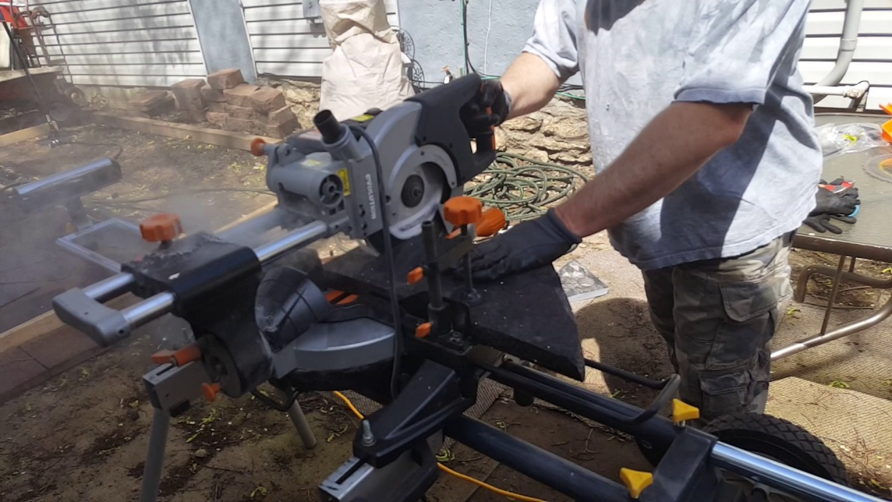 A granite patio using a evolution rage 3 miter saw with diamond a granite patio using a evolution rage 3 miter saw with diamond blade part 2 greentooth Image collections