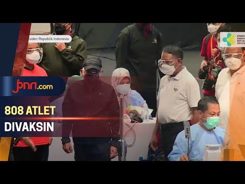 Wapres Ma'ruf Amin Tinjau Proses Vaksinasi Atlet di Istora Senayan