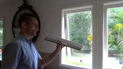 How to install retractable window fly screen tutorial DIY flyscreen