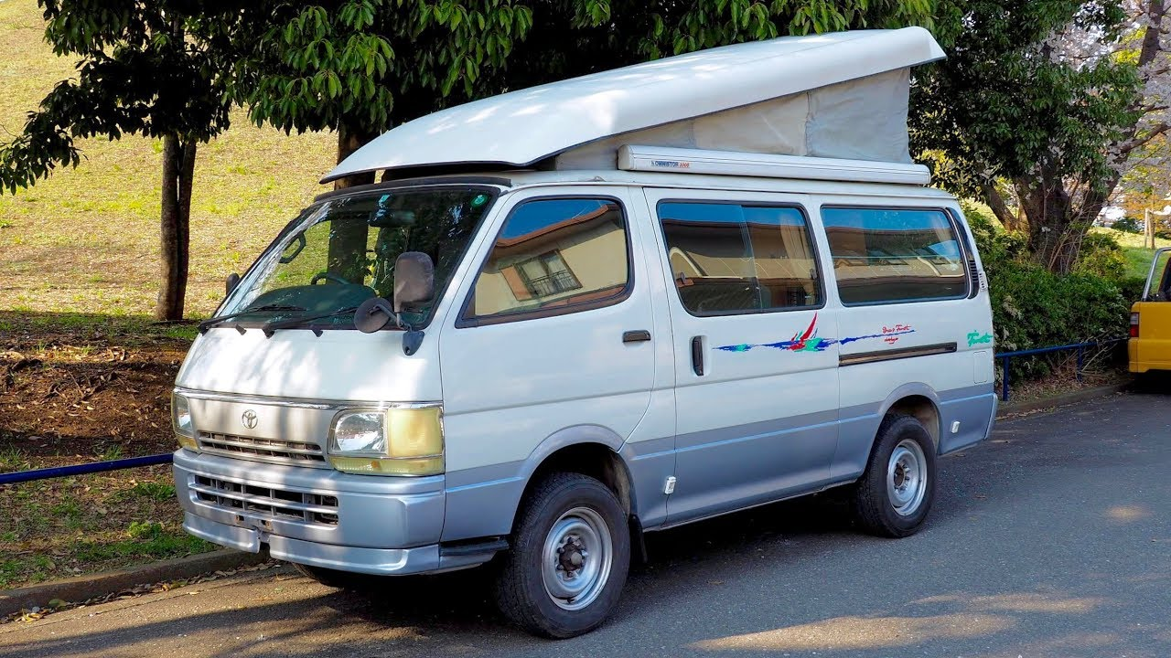 1996 toyota hiace pop top camping car 4x4 diesel canada import japan auction purchase review. Black Bedroom Furniture Sets. Home Design Ideas