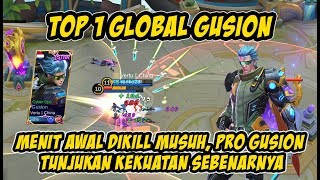 WOW!!! Kontrol Sempurna Top 1 Global Gusion Dengan Build Terbaru 11/03/2018