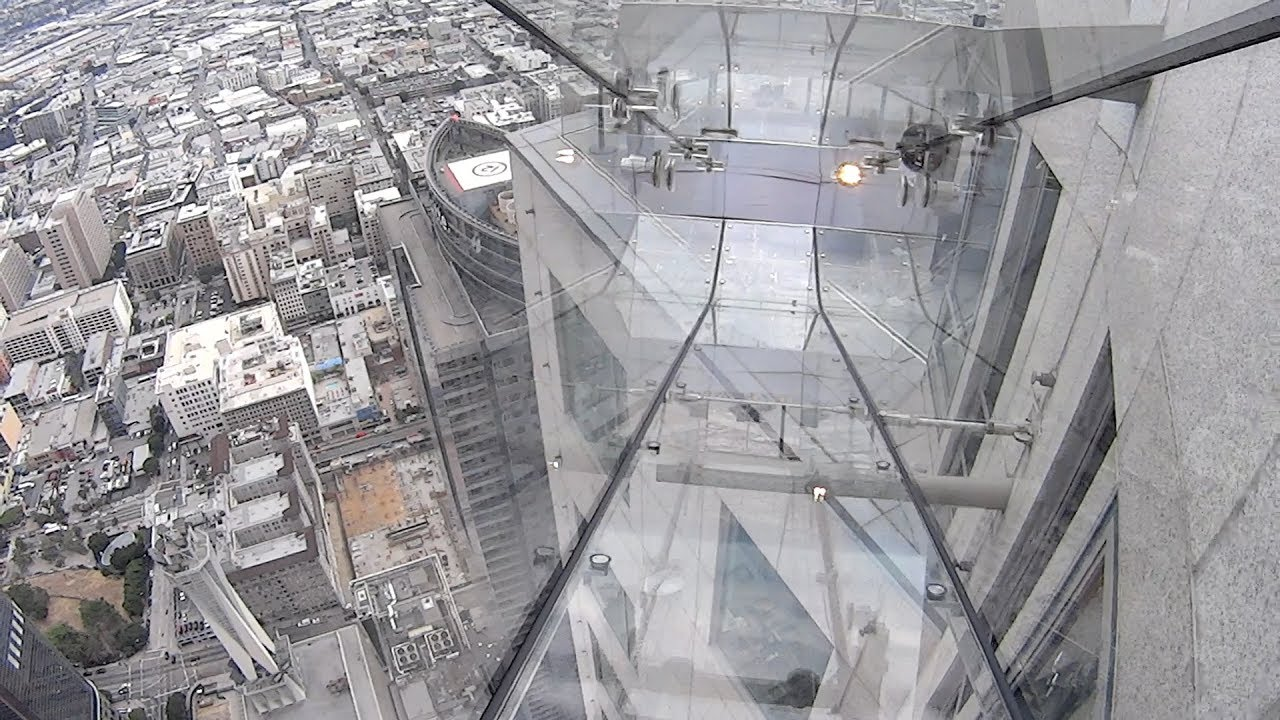 Skyslide At Oue Skyspace Los Angeles Youtube