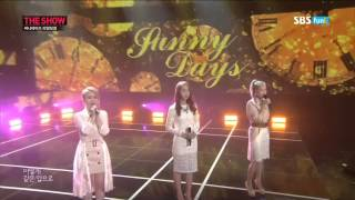 Sunny Days Real Vocal Comeback Stage The Show (3/11/2014)