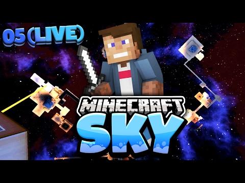 500.000 ABOS STREAM   Minecraft SKY #5   Dner