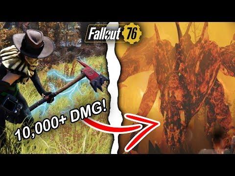 Fallout 76 | 10,000+ Weapon Damage Build VS. Scorchbeast Queen! (Fallout 76 Best Builds)