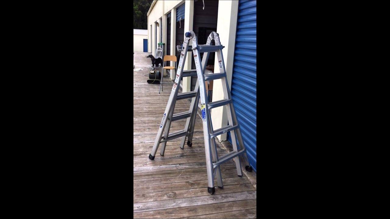 Werner Multi-Position 12/20 ft Folding Ladder - YouTube