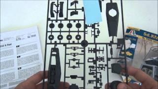 Sd.Kfz.232 6 rad - Kit review: Desembalaje Italeri model